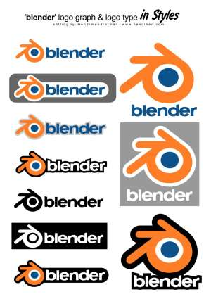 Logo Blender Download Gratis format Coreldraw & PDF