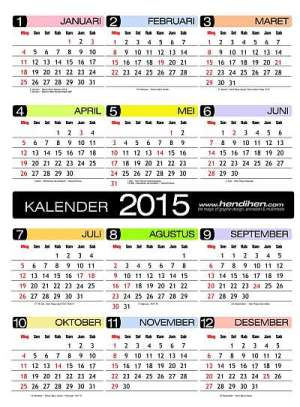 Download Kalender 2015 Gratis Indonesia